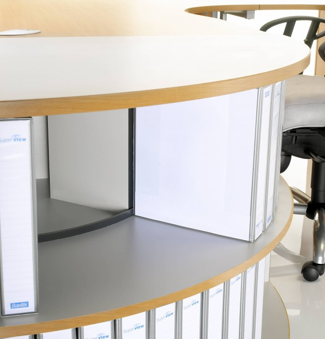 desk end bookcase, office storage, 90 degree bookcase
