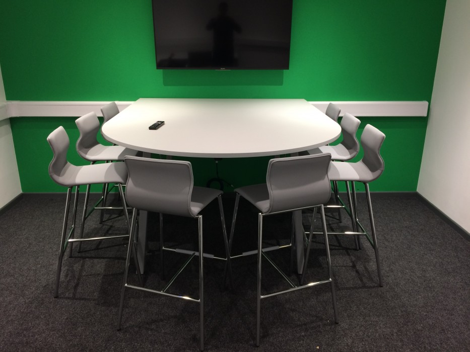 meeting table, d-end table, poseur table, bespoke table