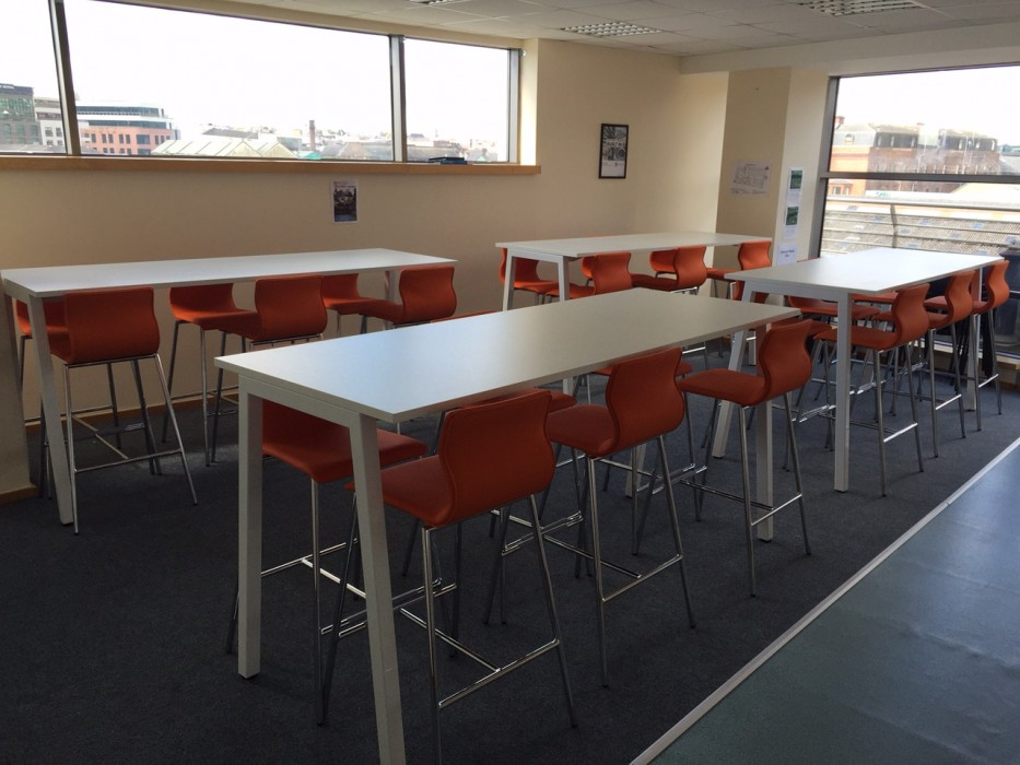 poseur table, bespoke furniture, meeting table, classroom furniture, canteen table
