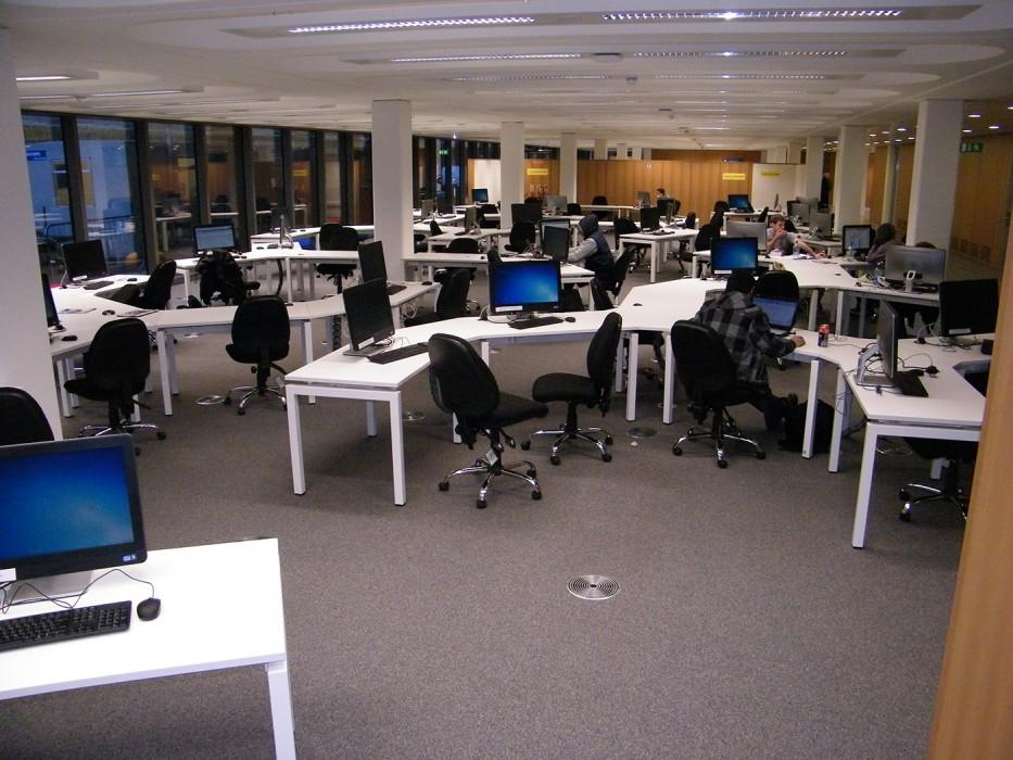bespoke furniture, office layout, bench desking