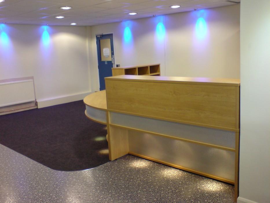 reception desk, bespoke reception desk