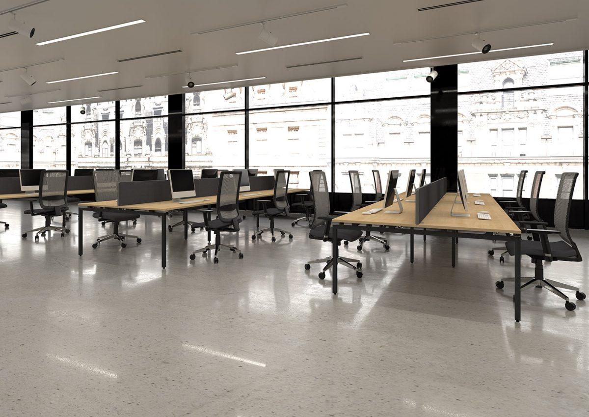 budget bench desking, modular desking, office bench