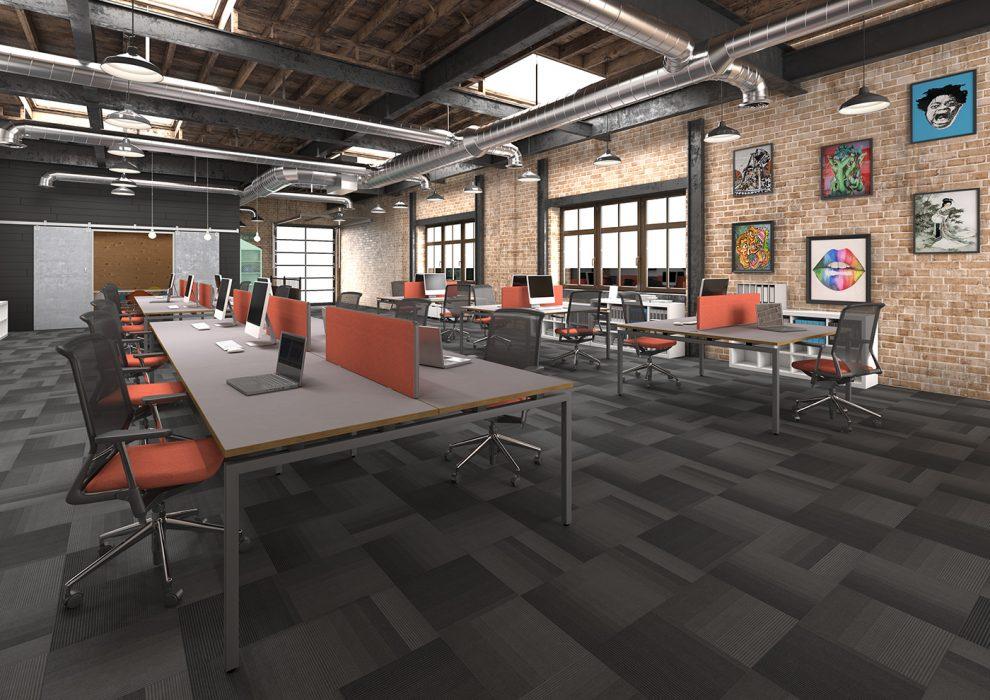 bench desking, modular desking,modesty panel, single desk, desktop screens, inset screen, budget bench