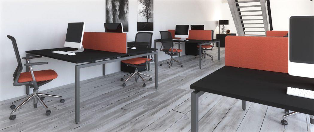 budget bench, cheap bench desk, bench desking, modular desking, single desk, double bench, desktop screens, inset screen