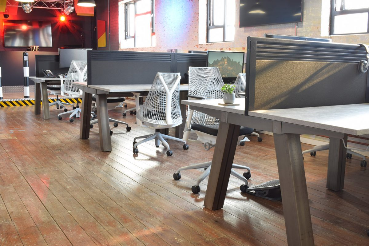 force bench, contemporary bench desk, office desking