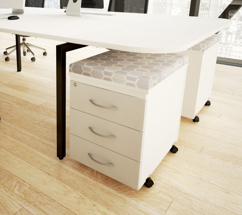 under desk storage, pedestal, seat pad, office storage