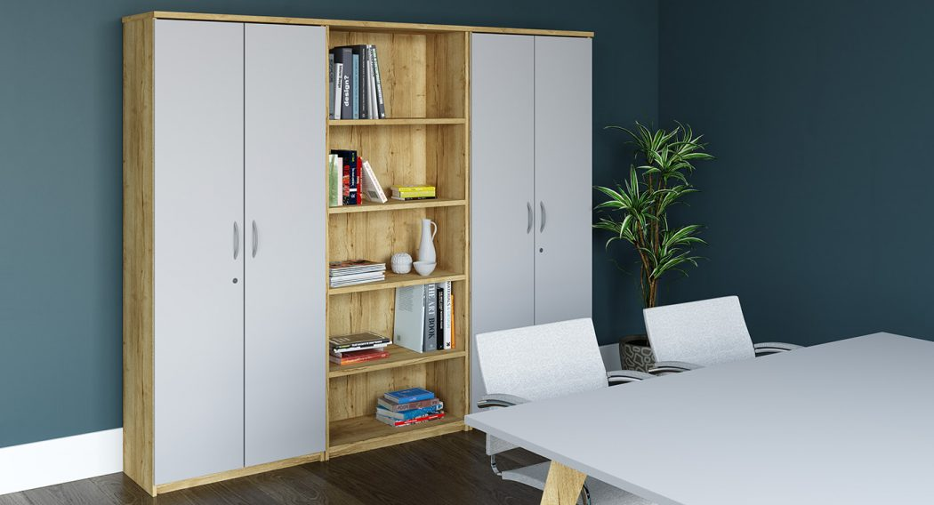 cupboard, bookcase, office storage