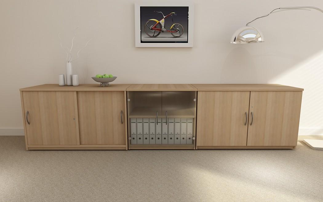 office storage, side unit, cupboards, glass door cupboard, sliding door cupboard