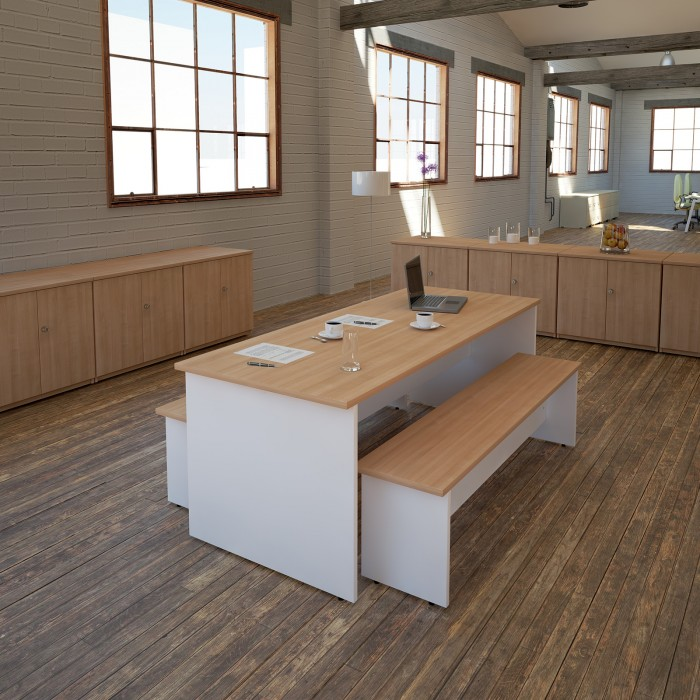 panel end, meeting table, breakout table, poseur table, stools