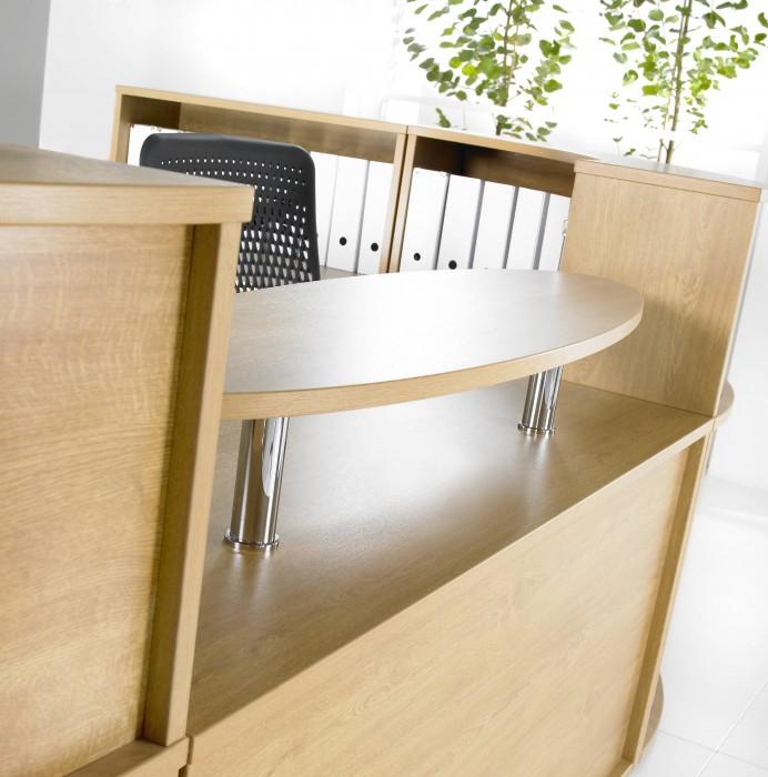 reception furniture, reception desk, shelf