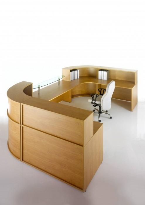 reception desk, reception top unit, reception configuration