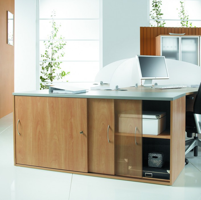 sliding door unit, office storage