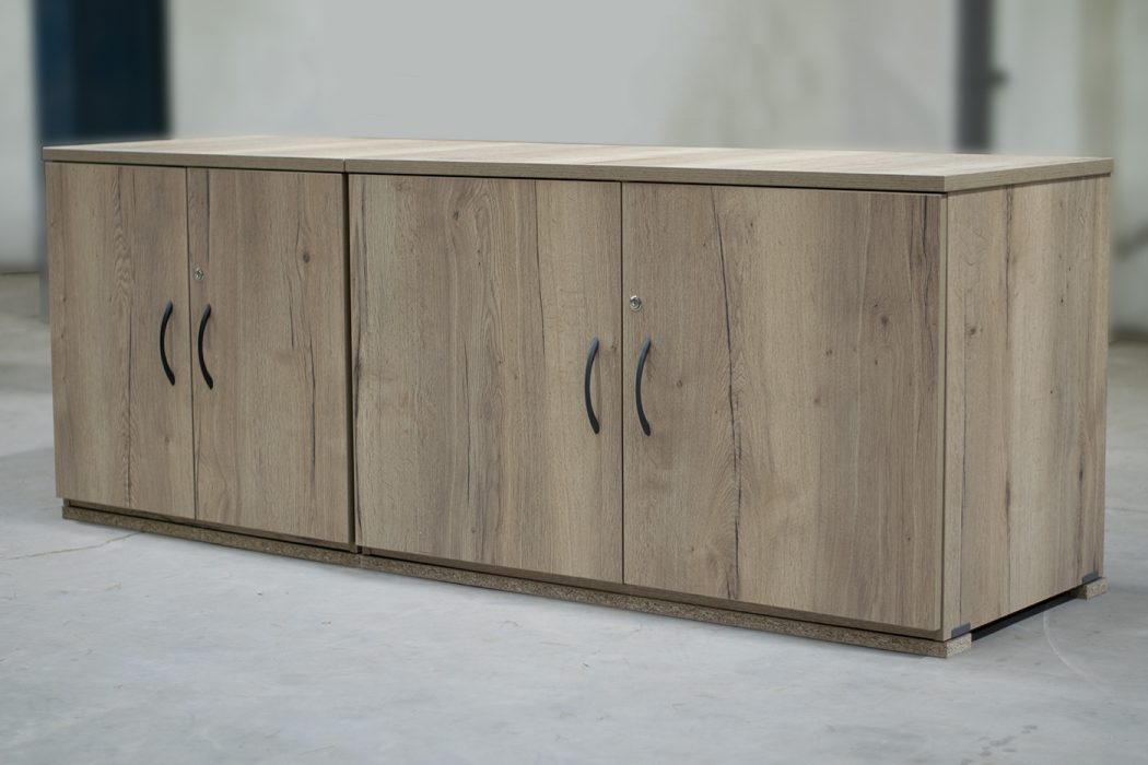 credenza, halifax oak, office storage, low storage