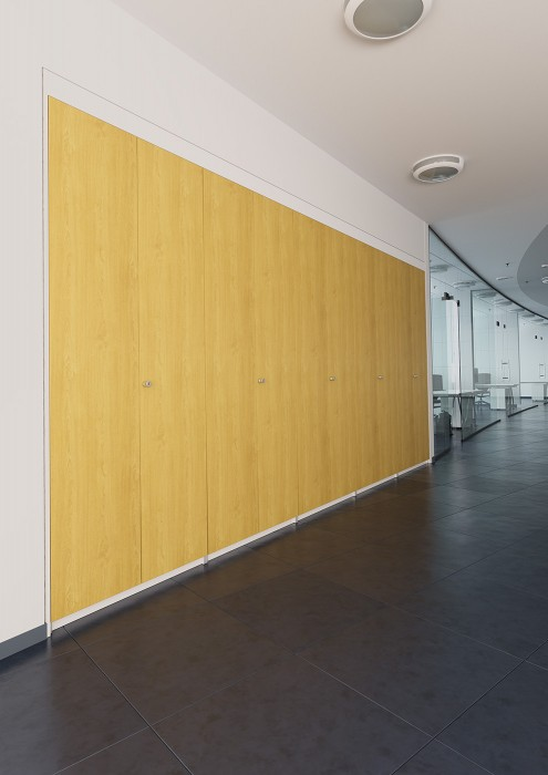 storage wall, built-in storage, fitted cupboards, office storage