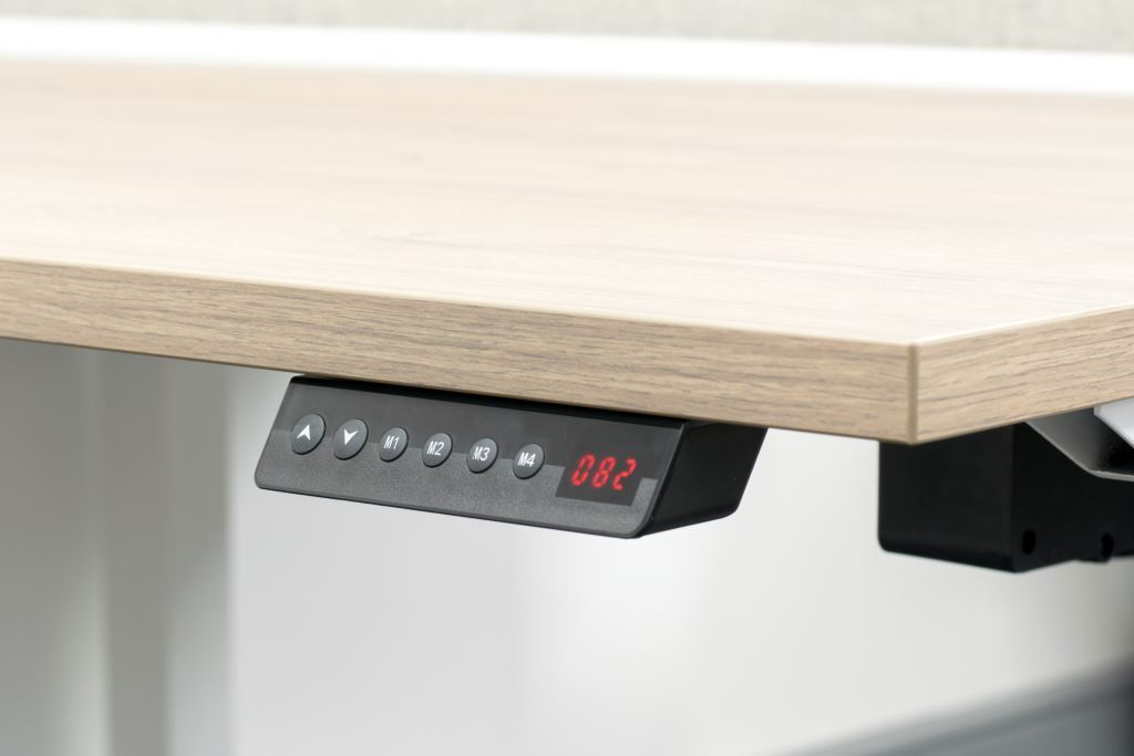 height adjustable, controller, sit stand desk, height settings
