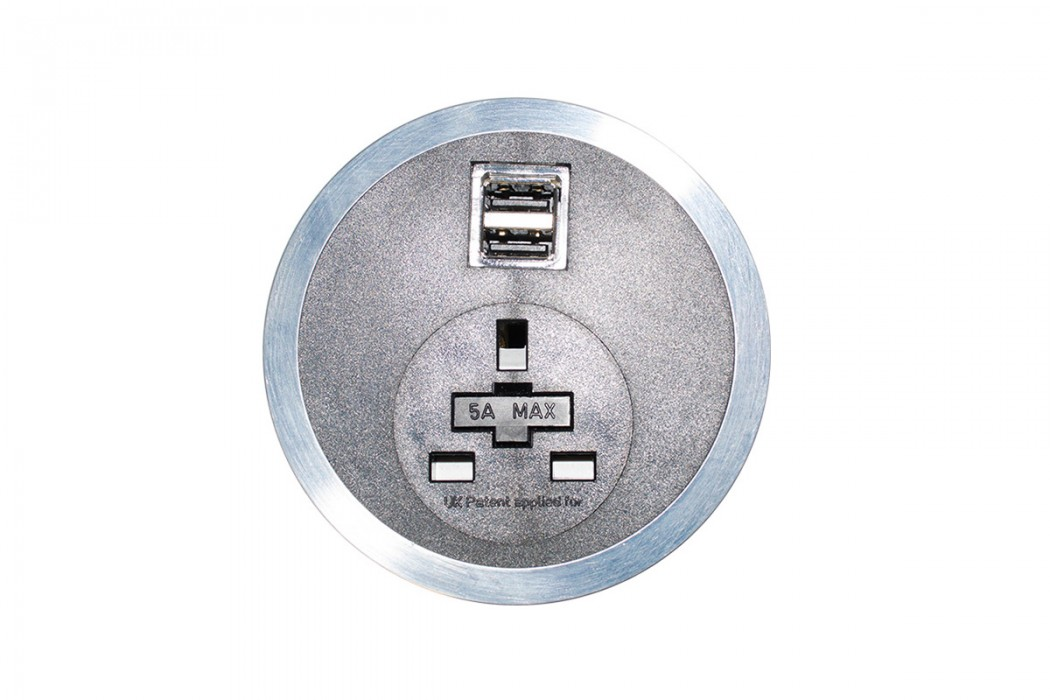 power module, integrated power, USB port, Data port