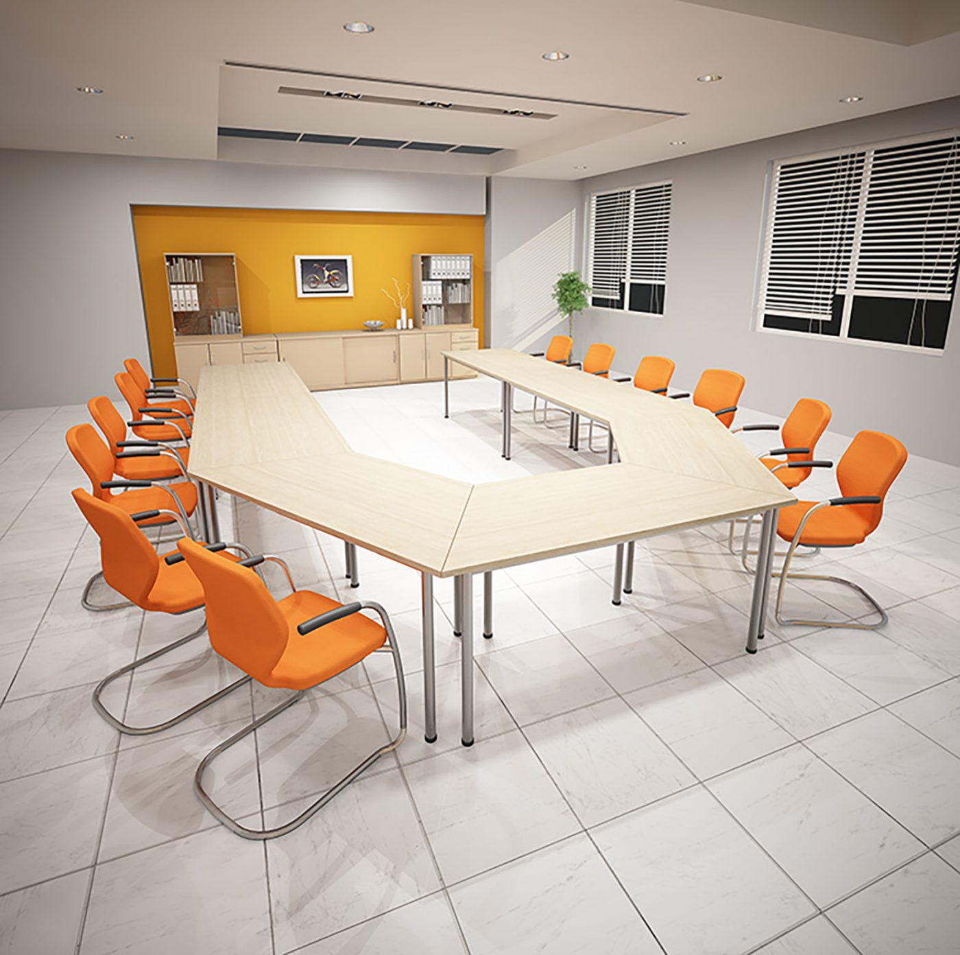 meeting tables, fully welded table, maple desktop, MFC
