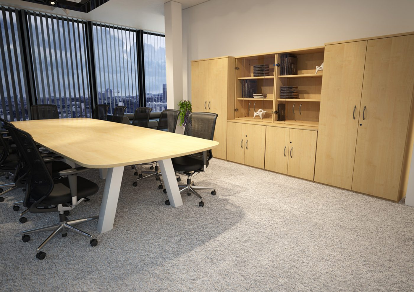 force, boardroom table, meeting table, white frame, rectangular table