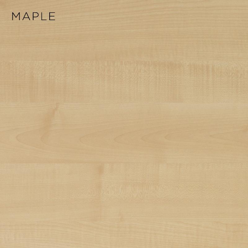 maple MFC, MFC finishes, wood finishes, wood colours, desktop finishes