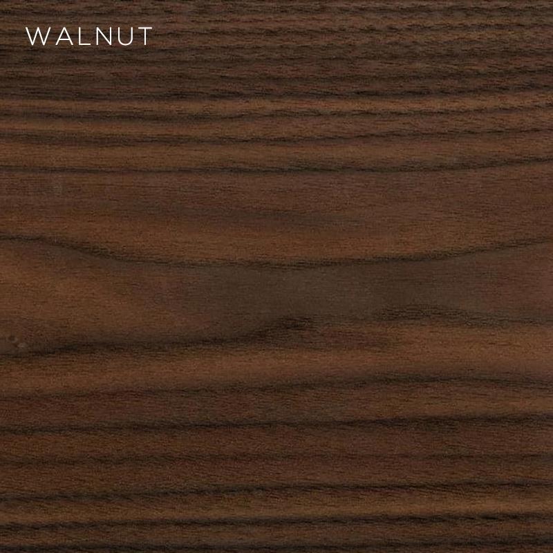 walnut MFC, MFC finishes, wood finishes, wood colours, desktop finishes