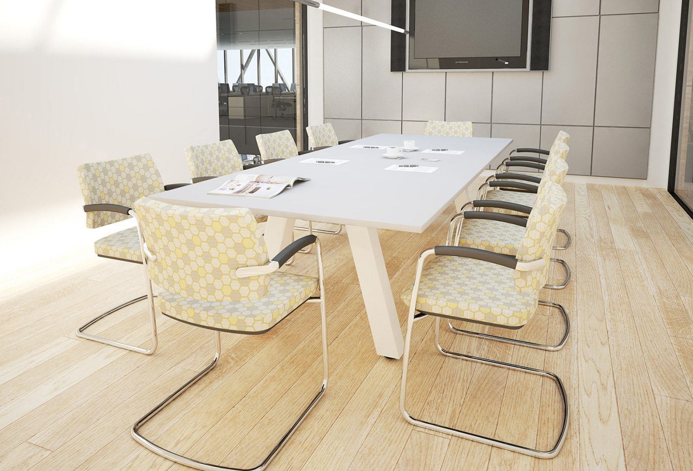 force, boardroom table, meeting table, rectangular table, office furniture, MFC furniture