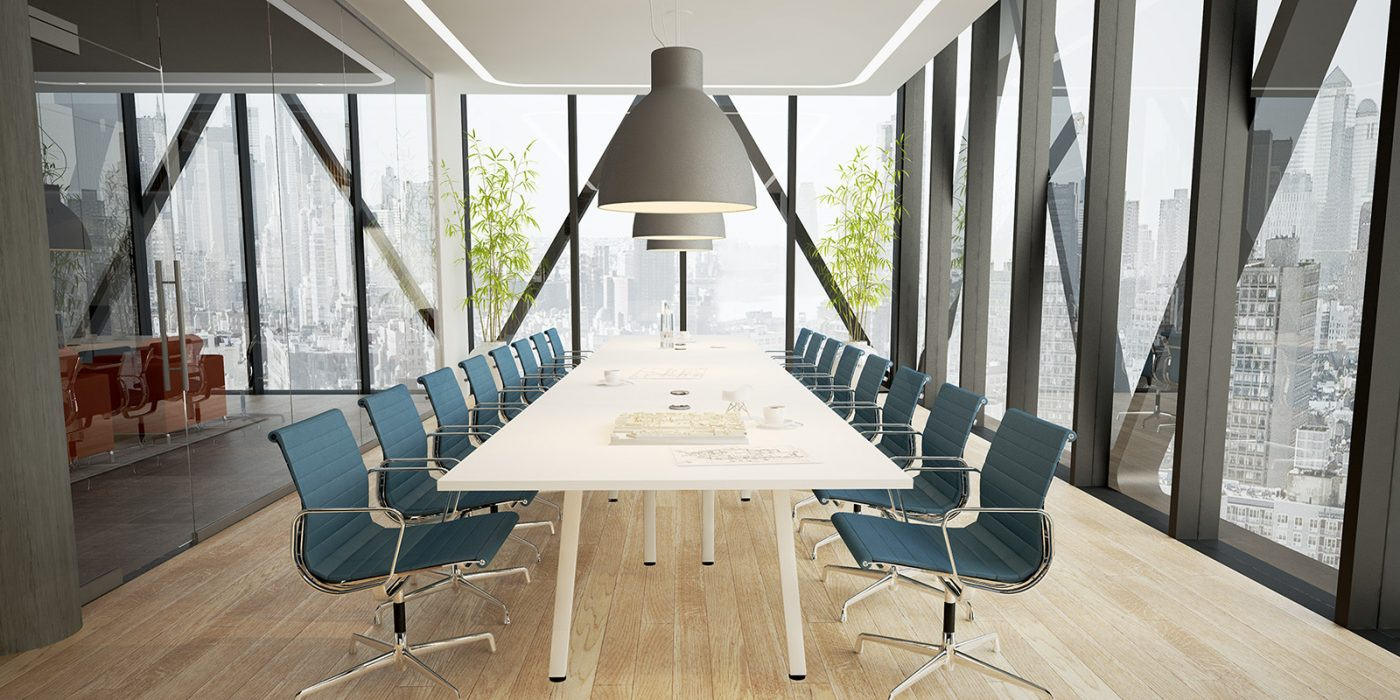 meeting table, boardroom table, white legs, white MFC