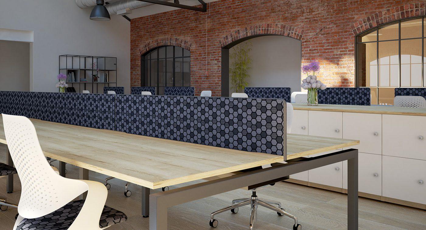 patterned desktop screen, fabric screen, desktop screen, edged screen