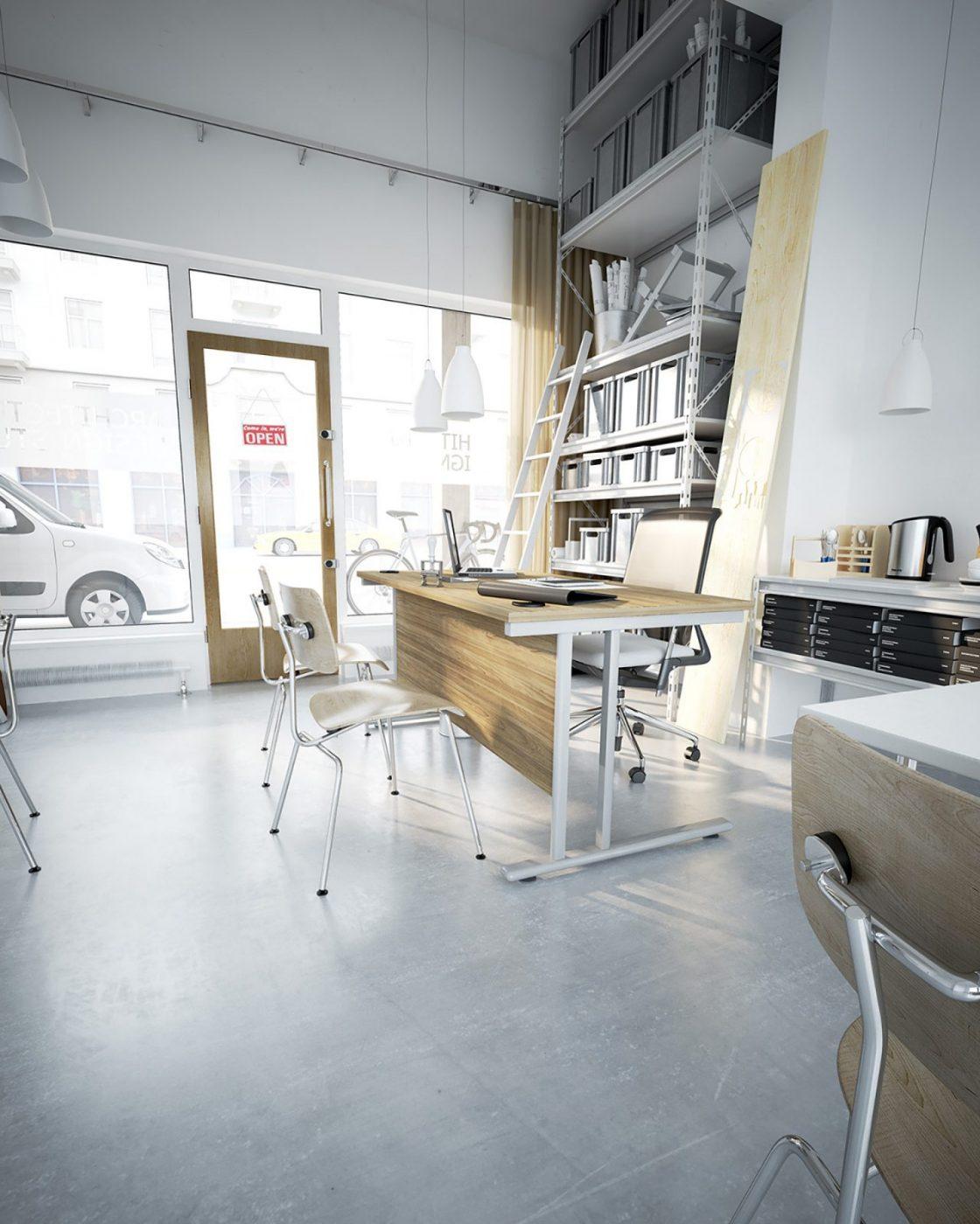 cantilever leg desk, rectangular desk, simple office desk, cheap desk