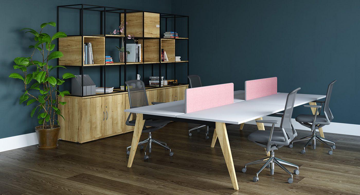 grid storage, contemporary office storage, modular storage