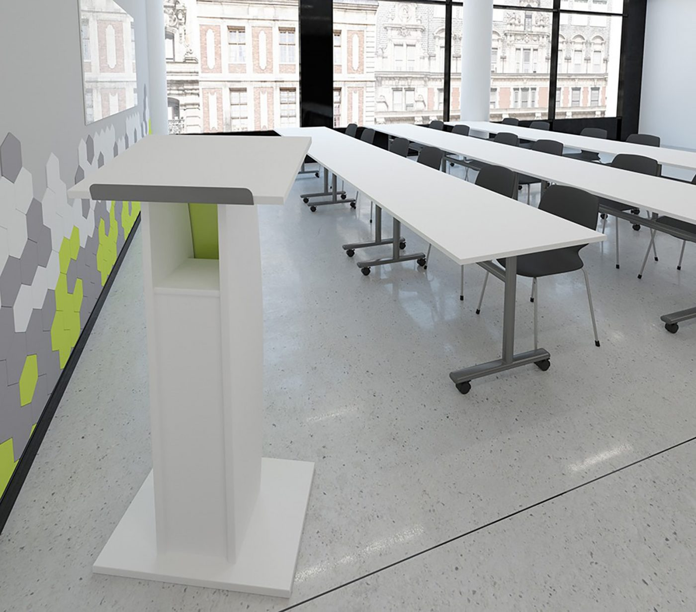 lectern, classroom furniture, university furniture