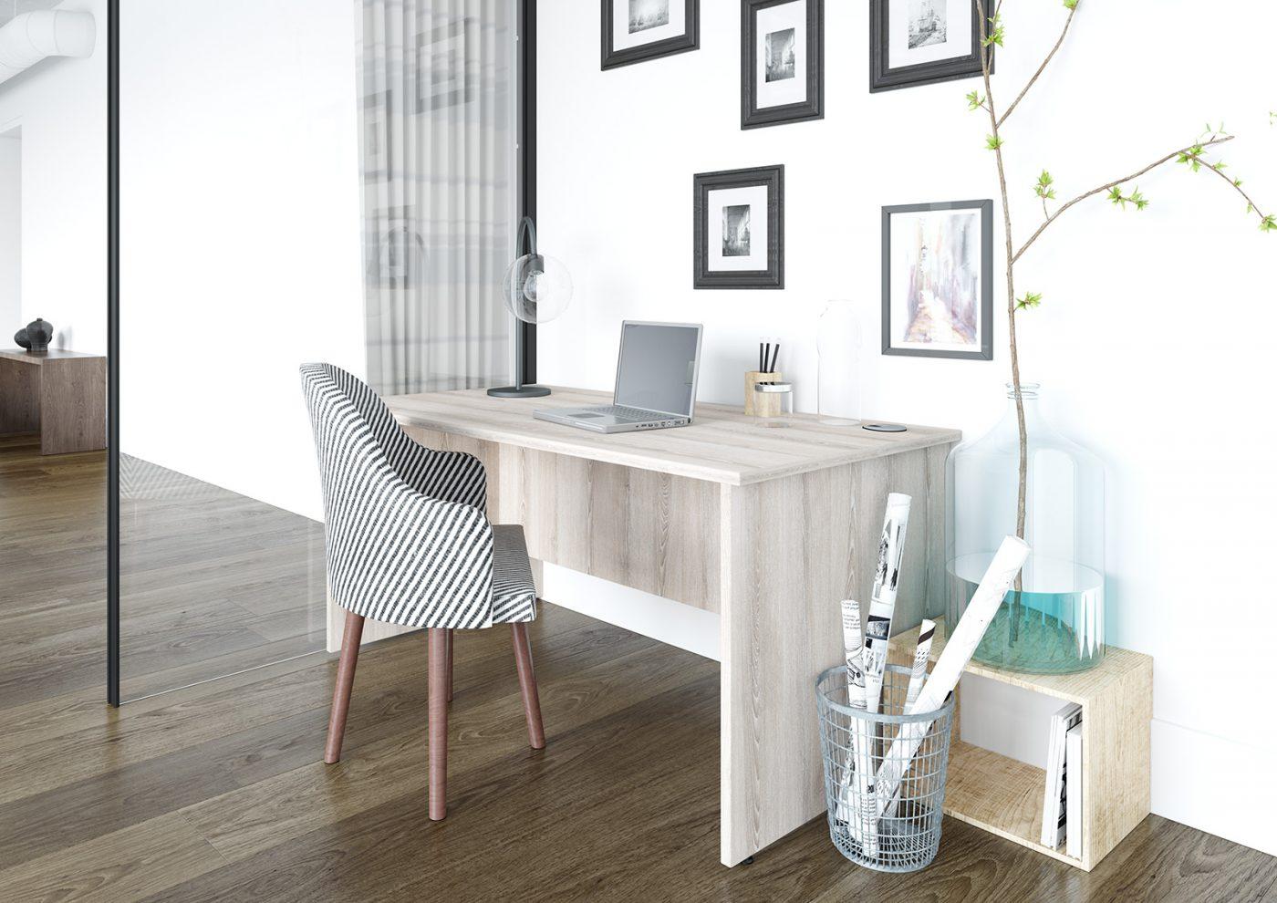 panel end, slab end, wooden desk, MFC, classic ash, ash desk, office interior, modern office, home office