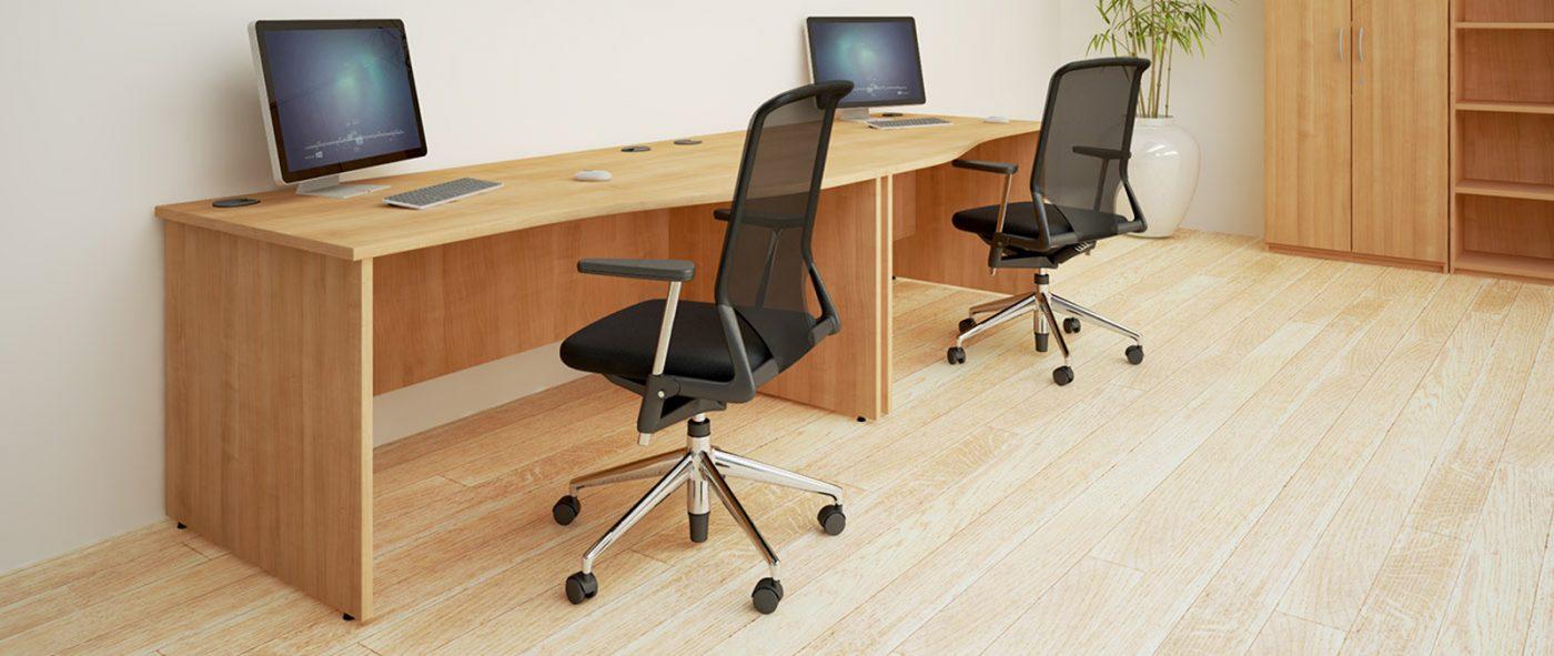 panel end, wooden desk, MFC, oak, office chair, operator chair