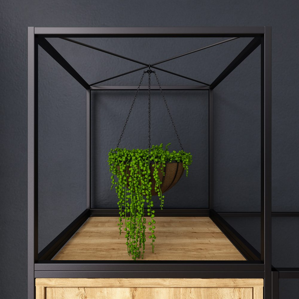 plant hanger, grid storage, office plants, biophillia