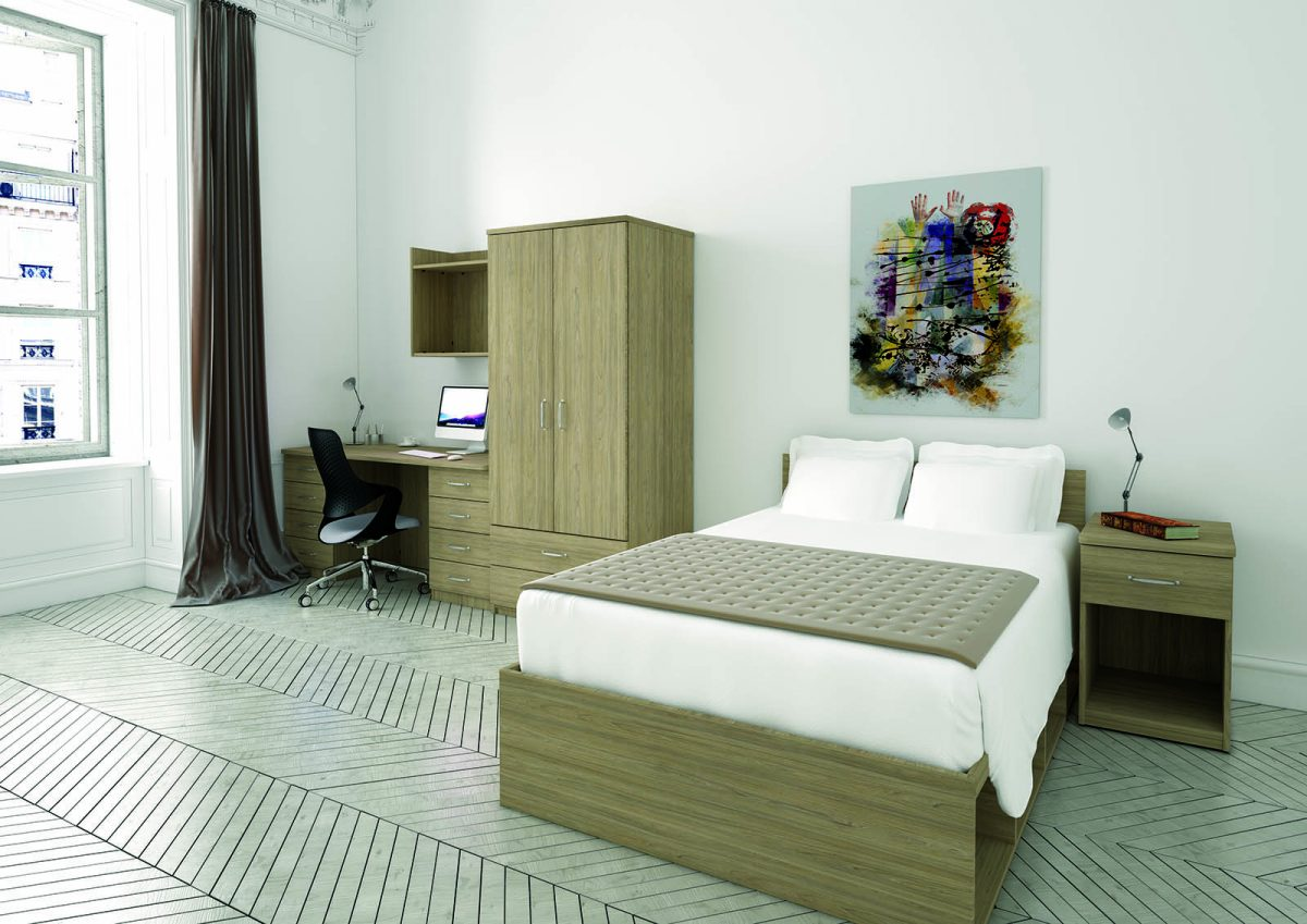 bedroom furniture, MFC, student accommodation furniture, residential furniture