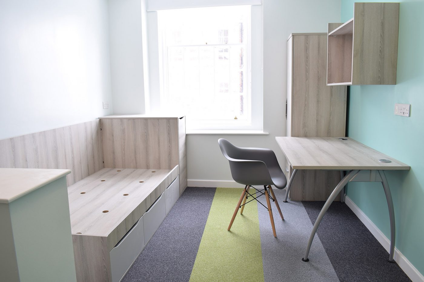 student accommodation furniture, bedroom furniture, student bedroom