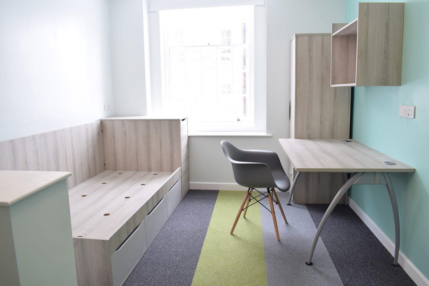student accommodation furniture, bedroom furniture, student bedroom