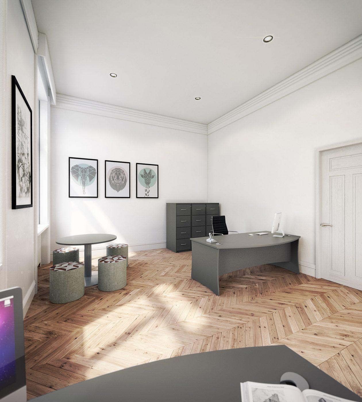 executive desk, MFC, panel end, roma lorenzo, office interior, office furniture