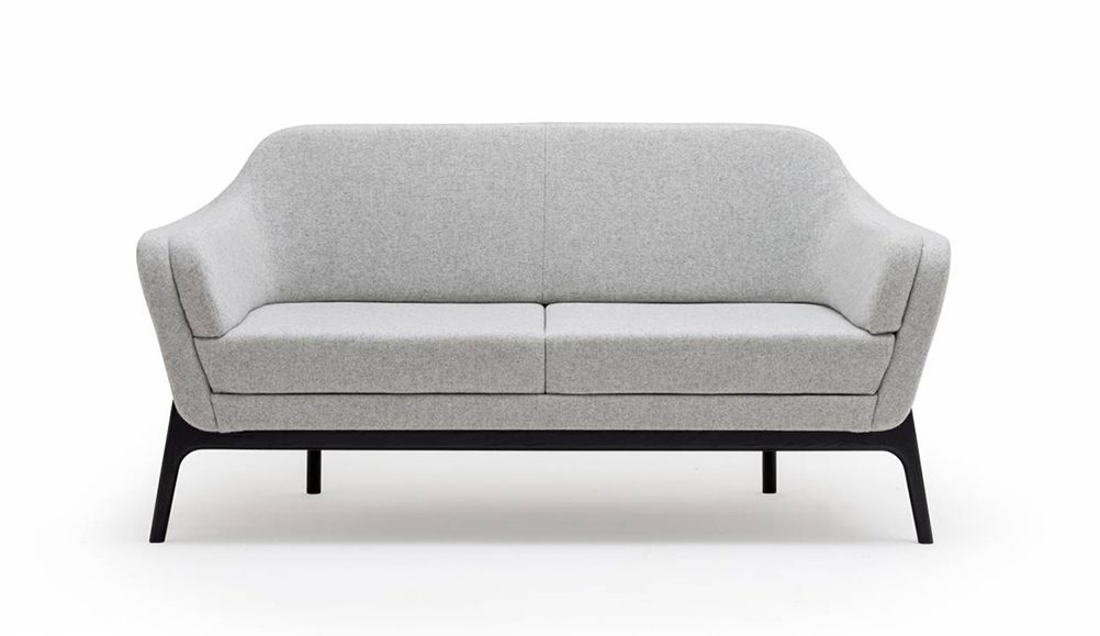 low sofa, reception seating, grey sofa, office sofa