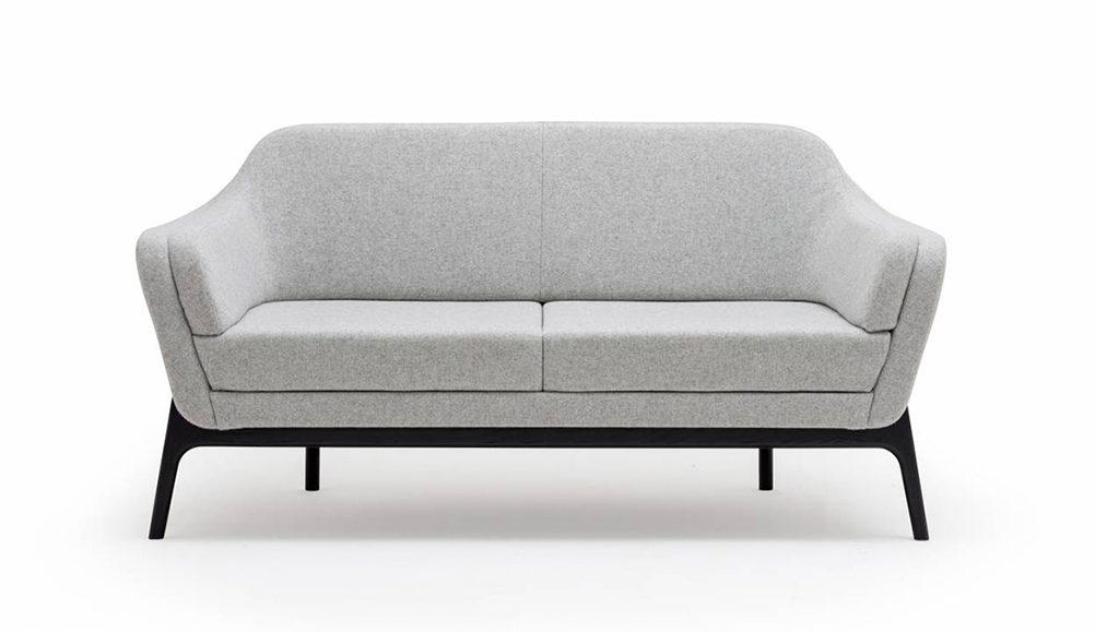low sofa, reception seating, grey sofa, office sofa