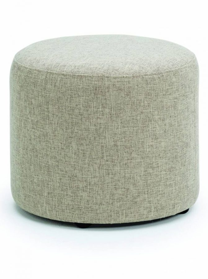 upholstered stool, grey stool, fabric stool, office seating, reception seating, breakout seating, stool on castors