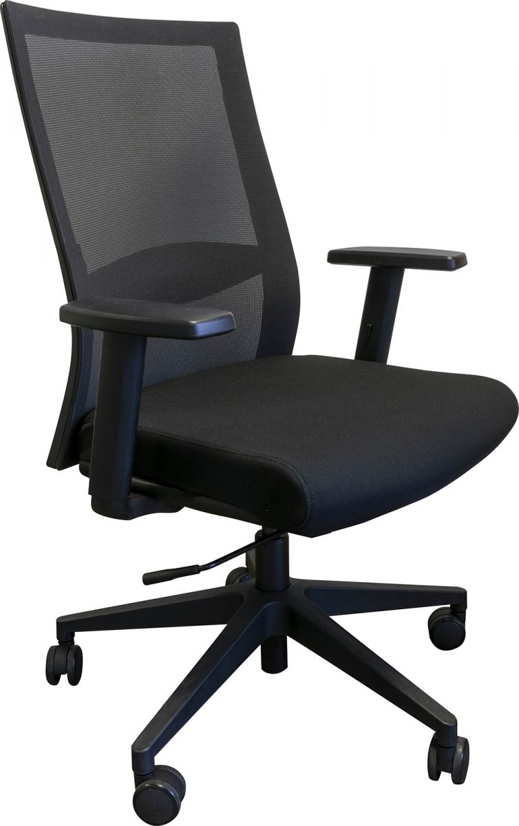operator chair, affordable office chair, black base, spider base, cheap office chair