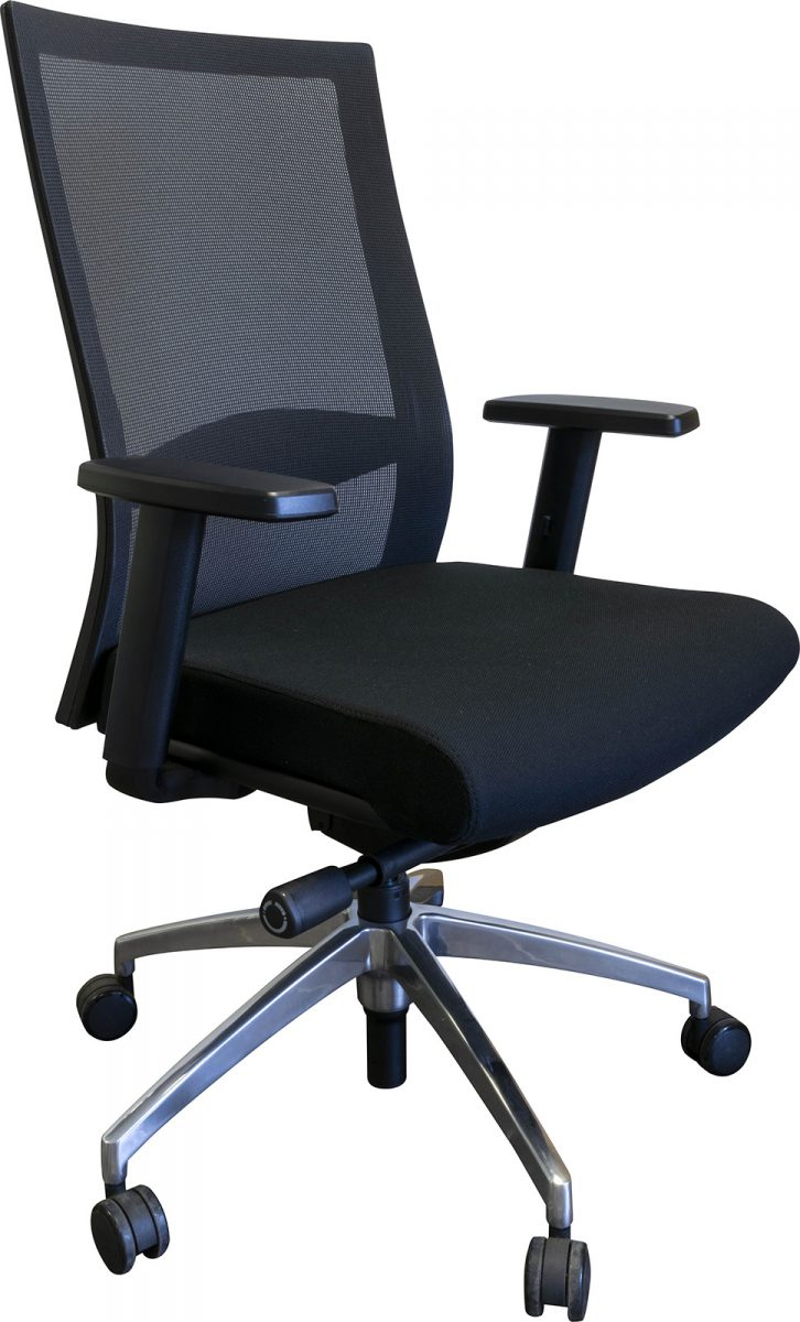 office chair, operator chair, spider base, chrome base, affordable chair