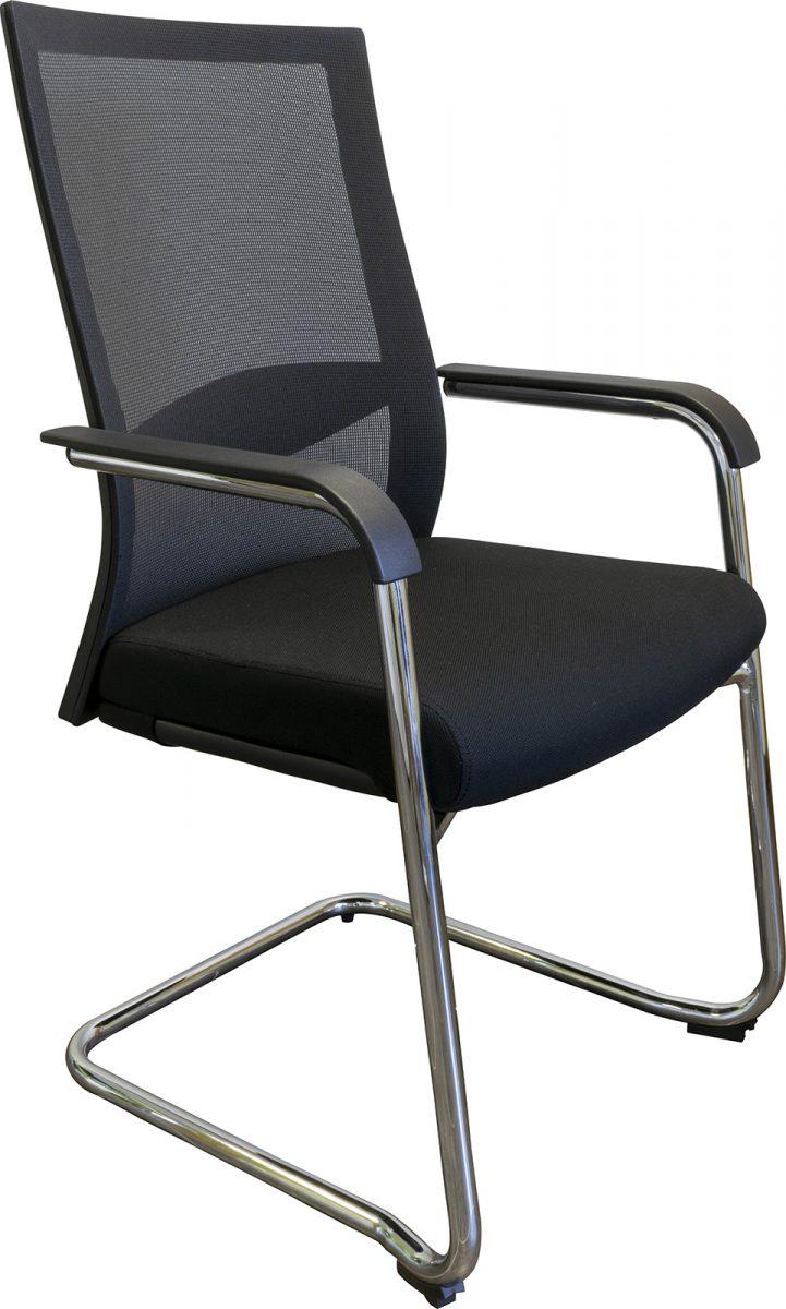 office chair, visitor chair, chrome base chair, cheap office chair