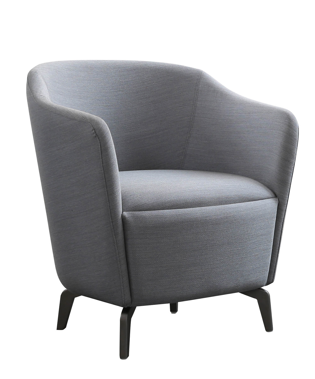 grey tub chair, upholstered tub chair, office seating, reception seating