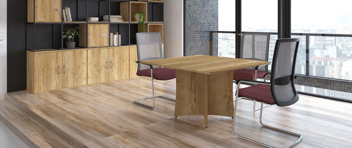 meeting tables, roma lorenzo base, crucifix base, oak table, wooden table