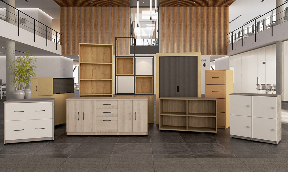 office storage, cupboard, bookcases, side filer, filing cabinets, lockers, base units, tambour