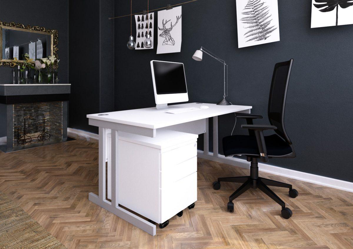 Affordable desks desking cheap good quality office furniture cantilever leg