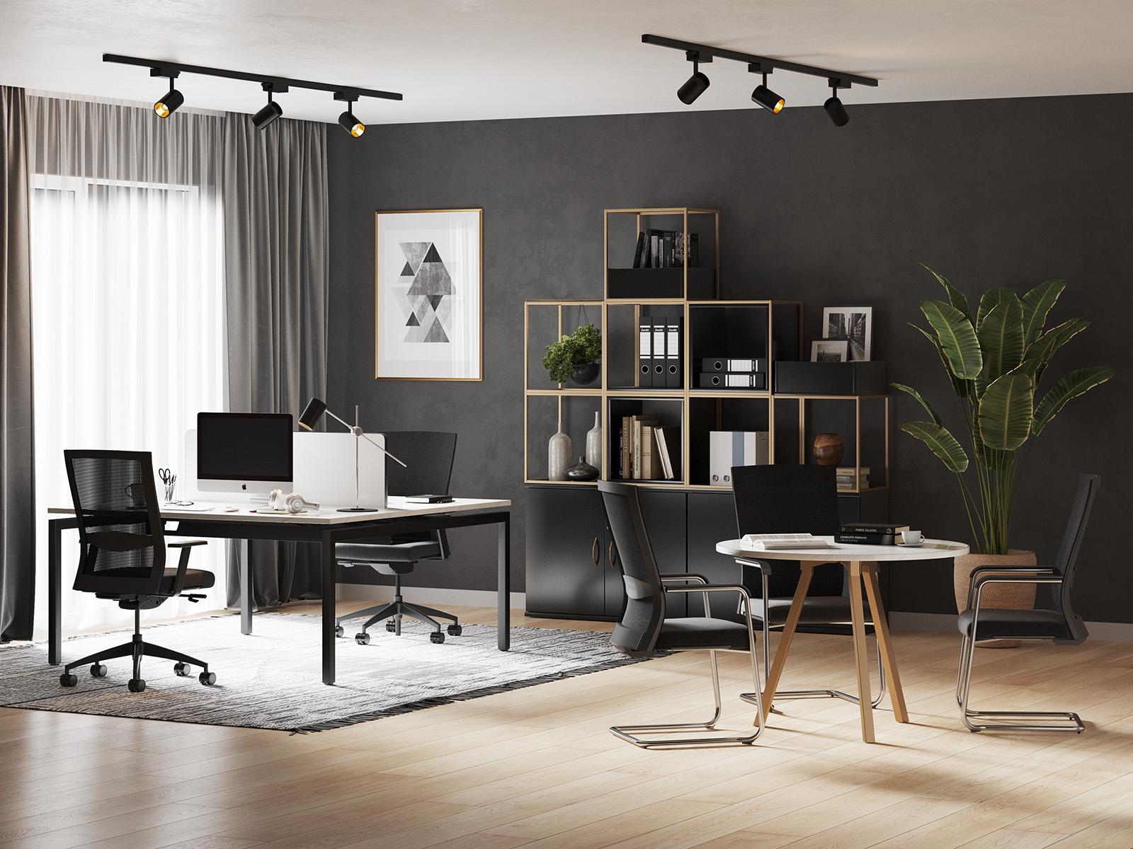 Grid Cube Storage Metal Modern Office Furniture Gold Bronze Marble Desk