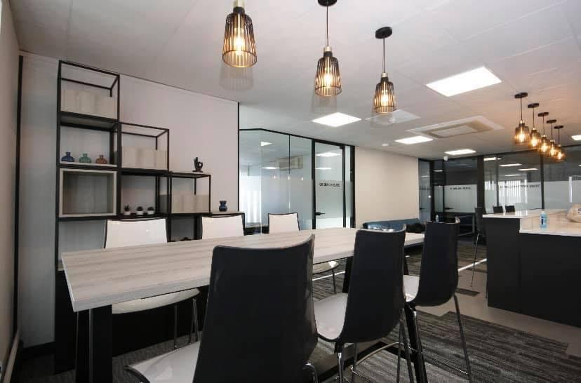 Grid cube storage modern office furniture black poseur meeting tables luxury premium